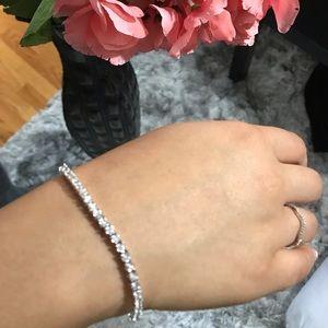 Jewelry - 2 CT Genuine white gold diamond 10KTennis Bracelet